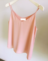 BLUSH Sleeveless Chiffon Top Summer Chiffon Tank Blush Wedding Bridesmaid Tops image 2
