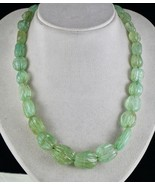 NATURAL COLOMBIAN EMERALD BEADS CARVED 24MM BIG 1 LINE 582 CTS NUGGET NE... - $5,035.00