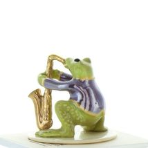 Hagen Renaker Miniature Frog Toadally Brass Band Saxophone Ceramic Figurine image 3