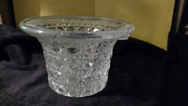 Vintage Beautiful Avon Leaded Crystal Cut Glass Basket w/o Handle - $9.50