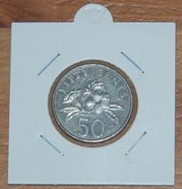 Singapore 50 Cents 1995 Coin (Yellow Allamanda Plant) - $1.00