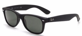 New RAY-BAN new Wayfarer RB 2132 622 Matte Black w/G-15 Green 52 mm - $176.34