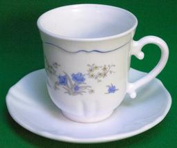 Set of 5 Arcopal (France) Cup & Saucer Sets - Romantique Pattern - $5.95