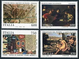 1993 Museum Treasures Set of 4 Italy Postage Stamps Catalog Number 1943-46 MNH