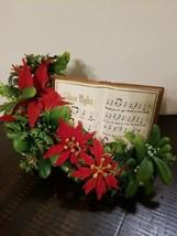 Vintage Centerpiece Christmas Silent Night Book music box hong kong orig... - $49.45