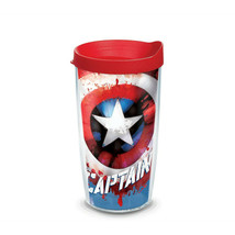 Captain America Wrap Tumbler With Travel Lid 16 oz Tervis® Tumbler  - $26.98