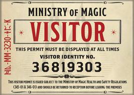 Fantastic Beasts Crimes of Grindelwald MOM Visitor Badge Magnet Harry Potter NEW - $3.99