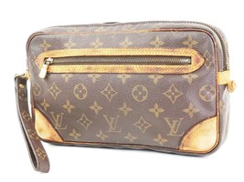 Authentic LOUIS VUITTON Marly Dragonne Monogram Pochette Clutch Hand Bag... - $149.00