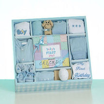 Baby Boy's First Year Calendar Gift Set - $60.00
