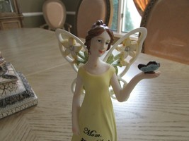 "LENOX HOME COLLECTION WINGED ANGEL FIGURINE MOM YOUR LOVE GAVE ME WINGS 8"" - $15.79"