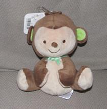 "Fisher Price Monkey 6"" 2013 Style 95660 Brown Tan Green Bow Beanbag Plus... - $34.64"