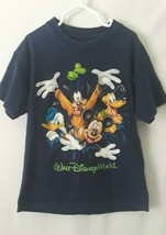 Walt Disney World T-Shirt Baby Mickey Mouse Goofy Pluto Donald Parks Youth Small - $17.37