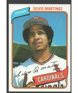 St Louis Cardinals Silvio Martinez 1980 Topps Baseball Card 496 nr mt - $0.50
