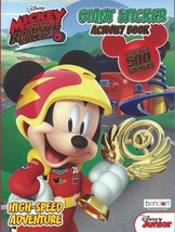 Mickey Mouse Racers 500 Sticker Activity Book for Children Kids Boys Girls - $9.49