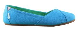 Etnies Femmes Circé Éco W Bleu Turquoise Plats Mary Jane Toile Chaussures Nib