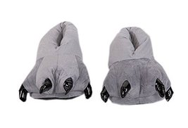 Funny Dinosaur Paw Push Slippers Grey (Asia Size: 35-39)