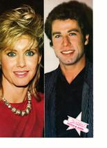 Olivia Newton John John Travolta Harrison Ford teen magazine pinup clipping BOp