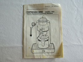 Krups 963 Espresso Mini Machine Replacement Part : Instruction Manual Booklet - $8.00
