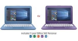 "HP Stream 11.6"" Laptop Windows 10 Intel Celeron N3060 4GB (BLUE or PURPLE) - $150.00"