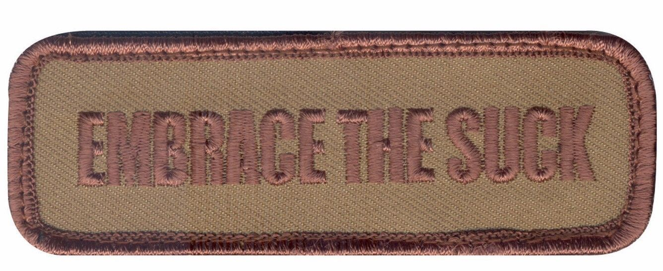 Primary image for EMBRACE THE SUCK DESERT EMBROIDERED HOOK & LOOP PATCH