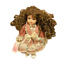 Vintage Porcelain Doll Collectible Memories Emma Curly Hair 1994 Doll Co... - $29.69