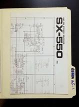 Pioneer SX-550 HG Receiver Foldout Schematics *Original* - $13.89