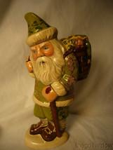Vaillancourt Folk Art Irish Santa with Basket O' Luck Signed no. 20017 image 1