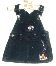 GIRLS JEAN OVERALL DRESS SIZE 3-6 MOS DISNEY - $3.00