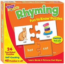 Rhyming Fun-to-Know Puzzles- Matching games to build language skills - $19.99