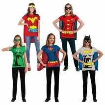 Rubies Female Superhero Adult Women DC Comics T-Shirt Set Halloween Costume - $20.12+