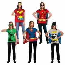 Rubies Female Superhero Adult Women DC Comics T-Shirt Set Halloween Costume - $19.93+