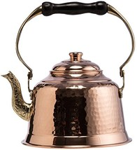 CopperBull Heavy Gauge 1mm Thick Hammered Copper Tea Pot Kettle Stovetop... - $71.98