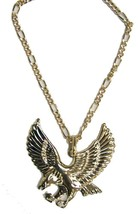 BUY 1 GET ONE FREE JUMBO GOLD BLING EAGLE PENDANT WITH 24 INCH CHAIN NEC... - $6.27
