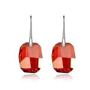 2016 Fashion Square Drop Earrings Women Vintage brincos Made With Swarovski Elem