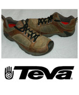 Teva Hiking Trail Shoes Boots Mens 9 Leather Tan Brown Athletic    oo - $39.19