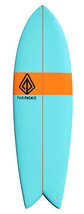 "Paragon Retro Fish 6'0"" Blue-Orange-Blue Surfboard - $400.00"