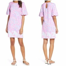Large NWT LILLY PULITZER BRITTON DRESS Pink Sorbet High Altitude Engineered - $108.85