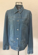 Jones New York Sport Blue Jean Jacket Stretch Size Medium - $42.54