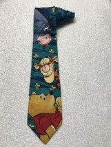 The Disney Store Winnie The Pooh Tigger Eeyore Bees Tie Necktie 100% Silk - $18.80