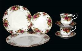 Royal Albert Sweet Stripe 3 Piece Teacup Saucer and Plate Set NIB