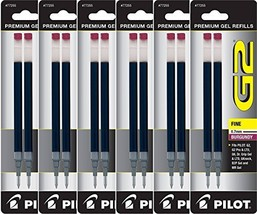 Value Pack of 6 - Pilot G2 Gel Ink Refills for Rolling Ball Pen, Fine Po... - $15.13