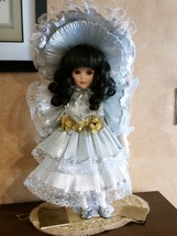"18"" Porcelain Hand Painted Doll - ""Silver Caroline"" by Seymour Mann - $85.99"