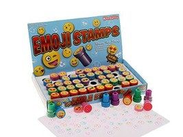 Kangaroo Emoji Universe: Plastic Stamps, 50 Count Emoji Stampers - $12.33