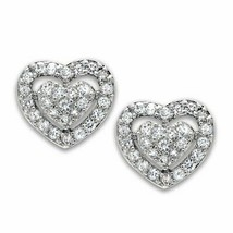 Women's Brass Rhodium CZ Clear 1.70(g) Fashion Stud Earrings - $18.00