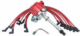 SBC CHEVY 283 327 383 SUPER HEI Distributor 8mm SPARK PLUG WIRES UNDER EXHAUST image 1