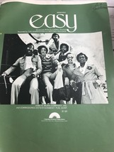 COMMODORES SHEET MUSIC Easy 1975 LIONEL RICHIE - $9.82