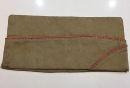 Original WWII Era U.S. Army Field Artillery Cotton Tan Enlisted Men Garrison Cap - $4.99