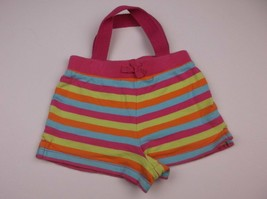 HANDMADE UPCYCLED KIDS PURSE SHERBERT STRIPE SHORTS 11.5X7 IN UNIQUE ONE... - $7.99