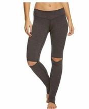 Hard Tail mid rise performance slit knee legging Charcoal - $75.00