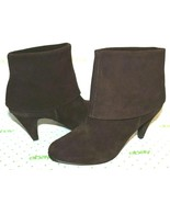 ❤️STEVE MADDEN Jinnie Brown Suede Fold-Over Slouch Boots 10 M EXCELLENT!... - $27.54